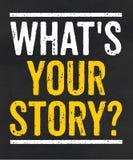 Ce qui est votre histoire illustration de vecteur