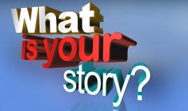 Ce qui est votre histoire illustration stock