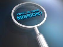 Ce qui est votre mission illustration stock