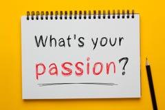 Ce qui est votre passion images stock