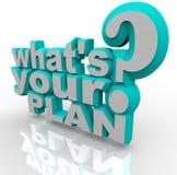 Ce qui est votre plan - planification prête pour la stratégie de succès Image stock