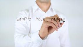 Ce qui est votre stratégie de marketing en ligne, écriture d'homme sur le verre banque de vidéos
