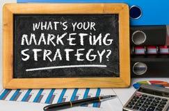 Ce qui est votre stratégie marketing Photo stock