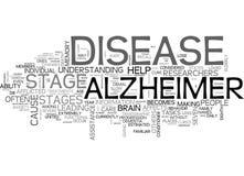 Ce qui sont les étapes du nuage d'Alzheimer S Diseaseword illustration libre de droits