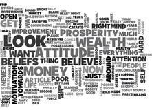 Ce qui sont vos croyances au sujet d'argent et de nuage de Word de richesse Photo libre de droits