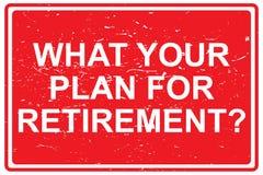 Ce qui votre plan pour la retraite illustration libre de droits