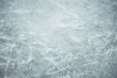 Ice in skate scratches, close view. Close up view stock photography