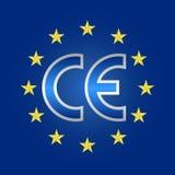 Ce-teken van kwaliteit, overeenstemming die teken merken vector illustratie