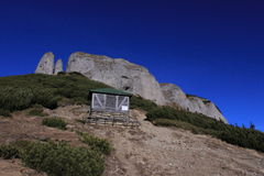 Ceahlau山,罗马尼亚 库存图片