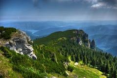 Ceahlau et lac de bicaz Photo libre de droits
