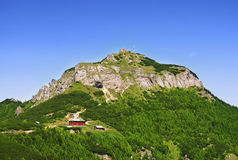 Ceahlau landscape. The second highest peak from mount ceahlau named toaca Stock Photo