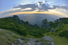 Ceahlau massif, Eastern Carpathians,  Romania. Ceahlau massif, Eastern Carpathians, Moldova, Romania Royalty Free Stock Photos