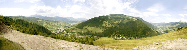 Ceahlau mountain panormama Stock Photos