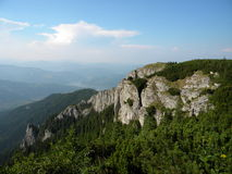 Ceahlau Mountain. Viewed from the top of the mountain Stock Image