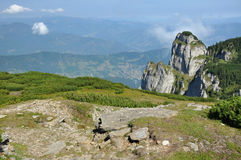Ceahlau mountains, Romania. The Ceahlau massif, Eastern Carpathians, Moldova, Romania Royalty Free Stock Photos