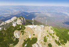 Ceahlau Toaca weather station in mountain of Romania. Royalty Free Stock Photos