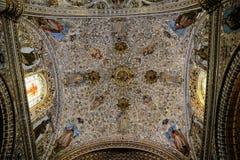 Cealings kyrka av Santo Domingo, Oaxaca arkivfoton