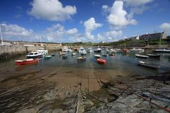 Ceamas. Harbour and boats on the Isle of Anglesey North wales Royalty Free Stock Photography
