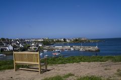 Ceamas bay and village with its harbour Stock Images