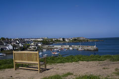Ceamas bay and village with its harbour Royalty Free Stock Photos