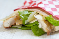 Ceasar pita sandwich Stock Images