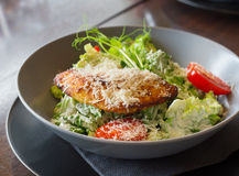 Ceasar salad with chicken Royalty Free Stock Photos