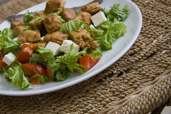 Ceasar salad with chicken Stock Photo