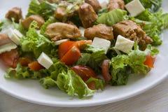 Ceasar salad closeup Royalty Free Stock Photography