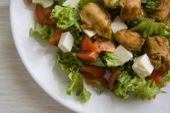 Ceasar salad closeup Royalty Free Stock Photo