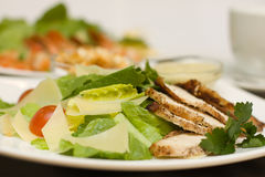 Ceasar Salad in italian restaurant Stock Image