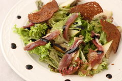 Ceasar salad on a plate Royalty Free Stock Images