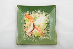 Ceasar salad on a plate Royalty Free Stock Photo