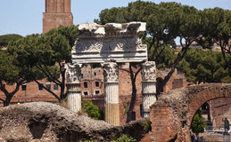 ceaser kolumn forum Italy Julius Rome Zdjęcia Stock