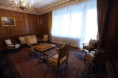 CEAUSESCU FAMILY HOUSE - PRIMAVERII PALACE MUSEUM. Primaverii Palace, former Bucharest residence of Ceausescu family, has been transformed into a museum and stock photo