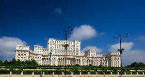 Ceausescu Palace of the Parliament Bucharest Romania stock photos