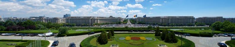 Ceausescu slottsikt av parlamentet Bucharest Rumänien Europa royaltyfri foto