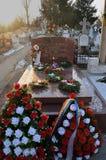 Ceausescus坟墓, Ghencea,布加勒斯特,罗马尼亚 图库摄影