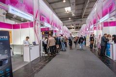 CeBIT信息技术商业展览的多个小中国摊 免版税库存照片