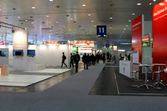 cebit市计算机商展莫斯科立场 免版税库存图片