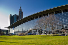CeBIT area. The exterior of a CeBIT exhibition hall in Hanover 2013 Royalty Free Stock Image