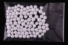 Cebo blanco de la espuma plástica para pescar fotografía de archivo