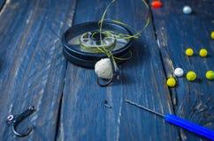 Cebo de la carpa Cebo para la carpa Carpa de cogida Pesca del conjunto fotografía de archivo