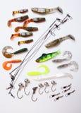 Cebo de la plantilla para pescar Foto de archivo libre de regalías