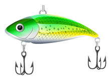 Cebo de pesca ilustración del vector