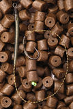 Cebo de pesca con el gancho fotografía de archivo libre de regalías
