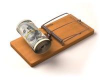 Cebo del dinero Imagen de archivo libre de regalías