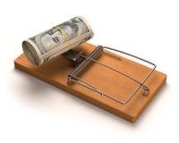 Cebo del dinero Imagen de archivo