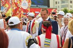 Ceboksary, Russia - 24 giugno 2016: Presidente della Ciuvascia Ignat Immagine Stock