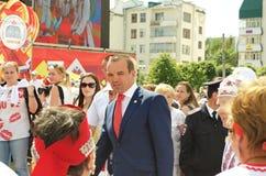 Ceboksary, Russia - 24 giugno 2016: Presidente della Ciuvascia Ignat Fotografia Stock Libera da Diritti
