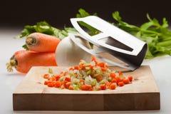 Cebola, cenoura e aipo Imagem de Stock Royalty Free